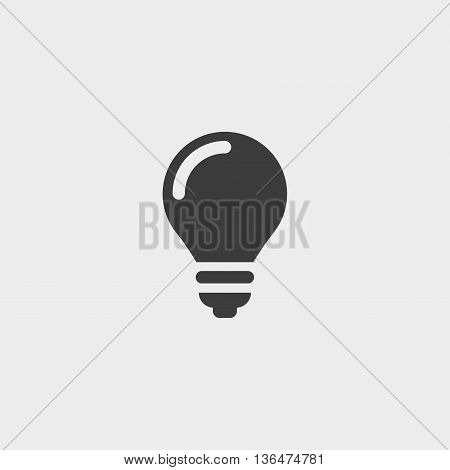 Lamp line icon in a flat design in black color. Vector illustration eps10