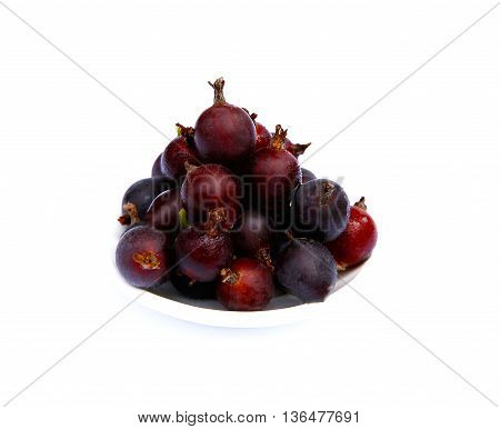 sweet and beautiful gooseberries on a white background photo for myckro-stock
