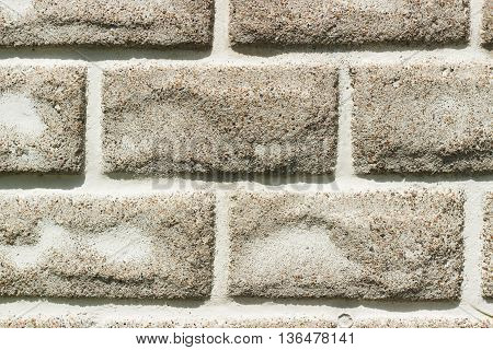 Background Made From Gray Bricks