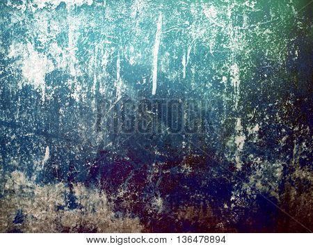 grunge painting on metal background