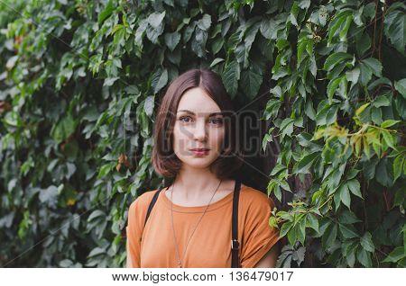 Beautiful Dark-haired Girl