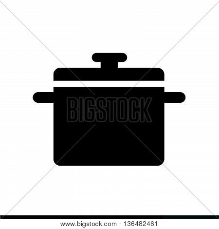 Saucepan icon Kitchen pan icon Illustration design