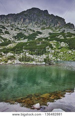 Amazing Panorama of Samodivski Lakes and Dzhangal Peak, Pirin Mountain, Bulgaria