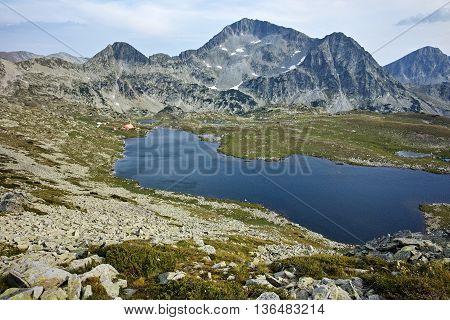 Panoramic view of Kamenitsa Peak And Tevno lake, Pirin Mountain, Bulgaria