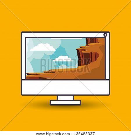 landscape wallpaper for desktop computer design, vector illustration eps10 graphic