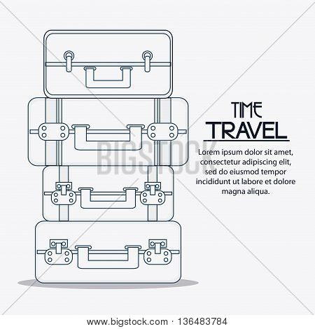 Time to travel concept represented by Bag icon. Isolated and silhouette Illustration