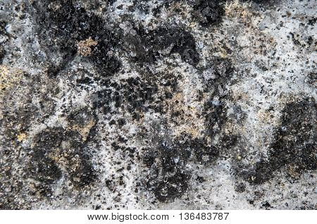 Abstract grunge background from stained and burned surface of metal.