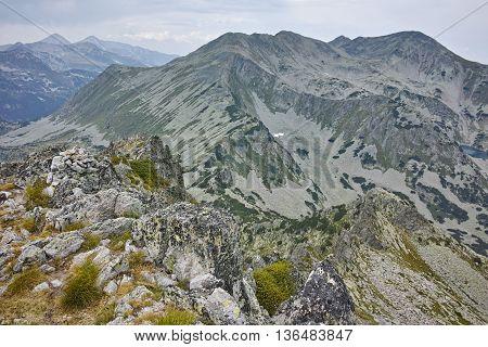 Amazing view to Polezhan peak from Dzhangal Peak, Pirin mountain, Bulgaria