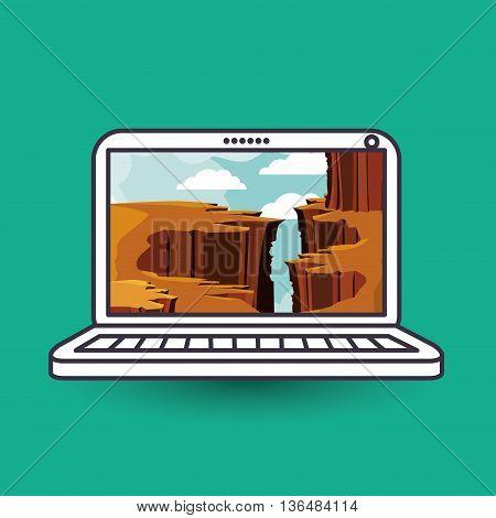 landscape wallpaper for portable computer design, vector illustration eps10 graphic