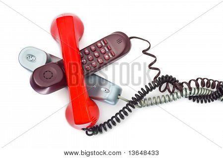 Heap of telephones