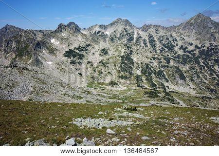 Dzhangal peak view form Dzhano peak, Pirin Mountain, Bulgaria