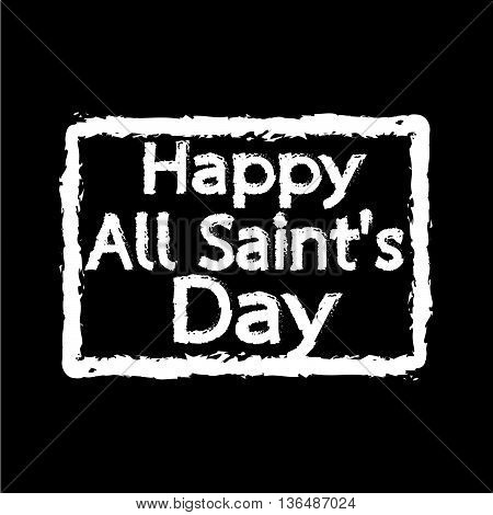 All Saints Day calligraphic typograph Illustration design