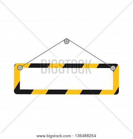 Under construction concept represented by barrier icon. isolated and flat illustration