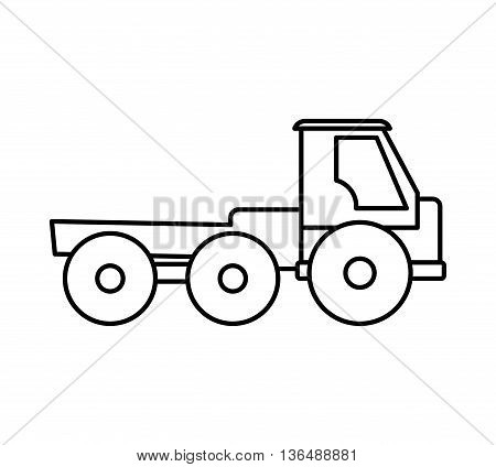 Under construction concept represented by truck icon. isolated and flat illustration