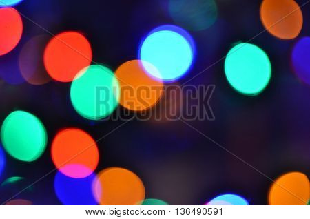 Bokeh background. Abstract defocused lights. Photo  with place for text.
