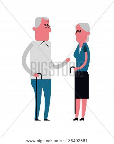 People concept represented by grandparents cartoon icon. Isolated and Colorfull illustration