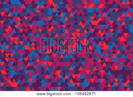 Abstract background of the triangles. The gradation of Violet. Violet hues.