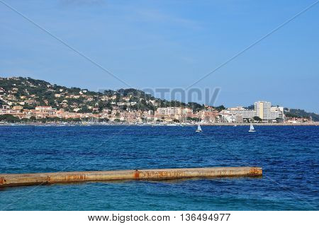 Sainte Maxime France - april 16 2016 : the seaside
