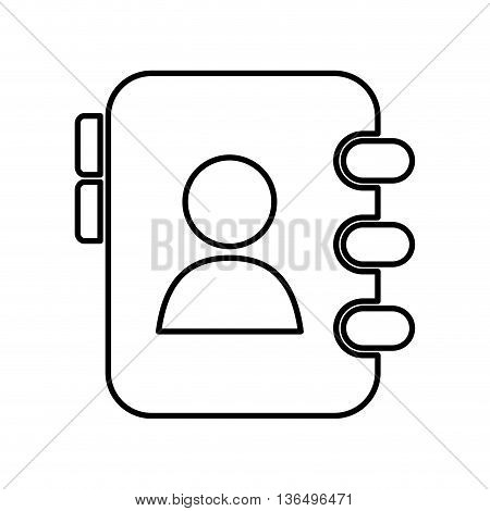 Social media concept represented by agend icon. isolated and flat illustration
