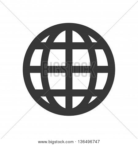 Social media concept represented by global sphere icon. isolated and flat illustration