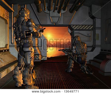 Space Marines arriving on a Red Planet