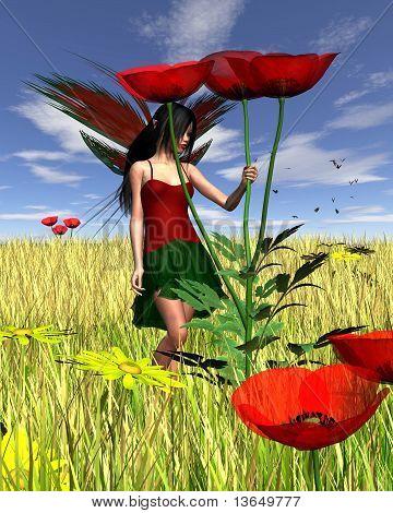 Red Poppy Fairy