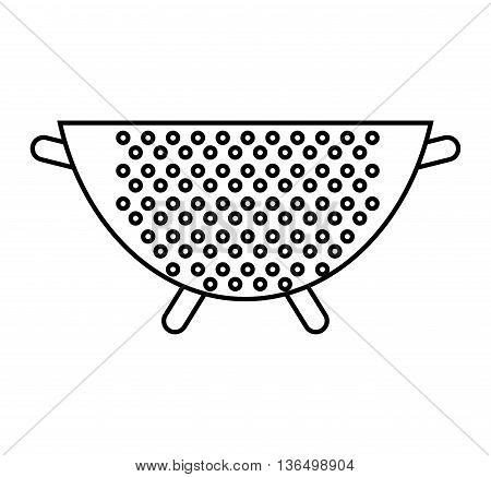 Kitchen and Cooking concept represented by bowl icon. isolated and flat illustration