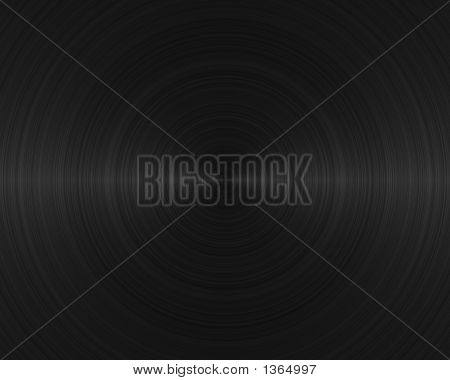 Brushed Metal Texture Background Vinyl Record
