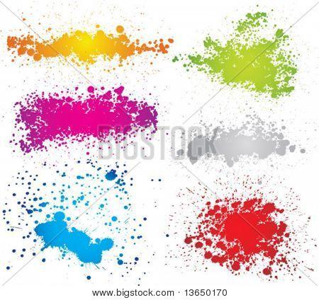 Createve Satz von Tintenklecks Silhouetten. Vektor