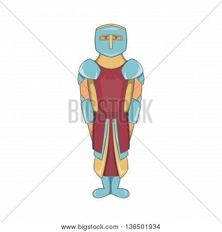 Ancient spartan gladiator legionnaire icon in cartoon style on a white background