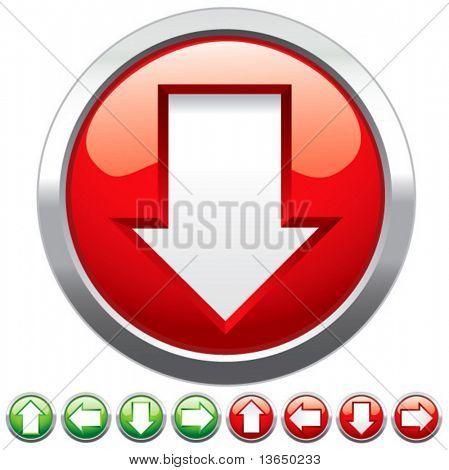 Conjunto de botones para diseño web. Vector