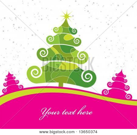 Árbol de Navidad. Vector. Ver más en mi Galería!