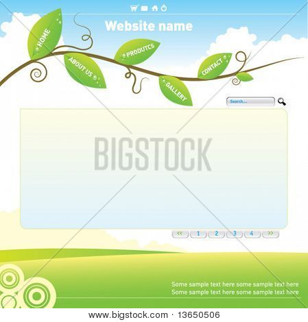 Creative site bar. vector