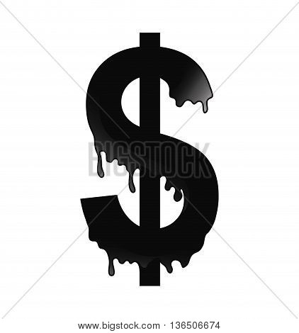 Oil industry concept represented by money icon. isolated and flat illustration