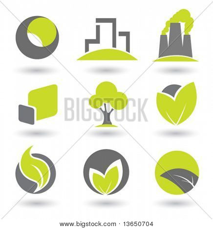 Abstract element set. vector