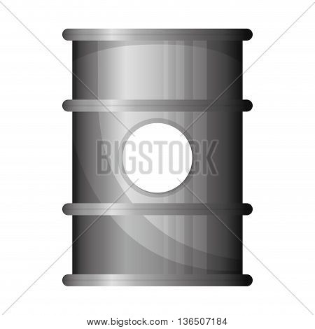 Oil industry concept represented by barrel icon. isolated and flat illustration