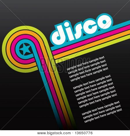 abstract disco background - vector.