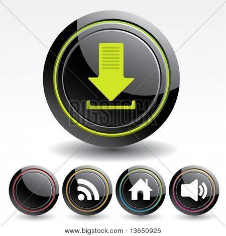 Botões para web design. Vector.