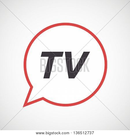 Isolated Comic Balloon Icon With    The Text Tv