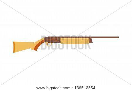Hunting ammunition. Cartoon rifle icon, vector illustration