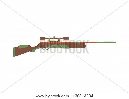 rifle icon. hunting equipment. Rifle in cartoon style flat. Vector illustration of rifles