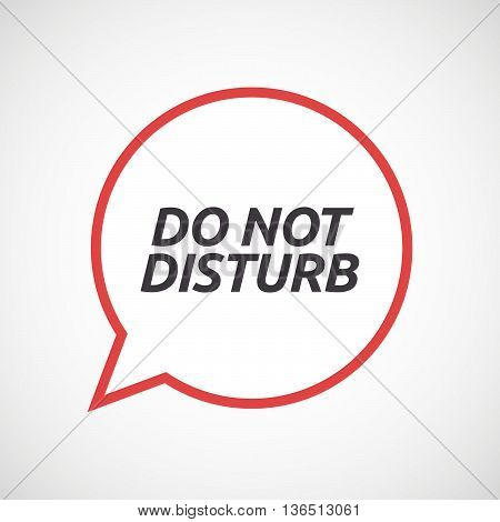 Isolated Comic Balloon Icon With    The Text Do Not Disturb
