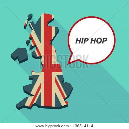 Long Shadow United Kingdom Map With    The Text Hip Hop