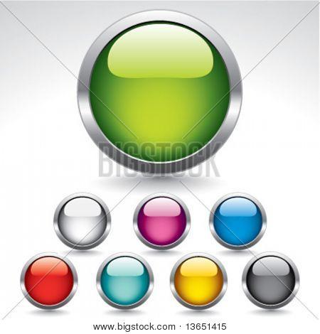 Botões brilhantes originais para web design. Vector.