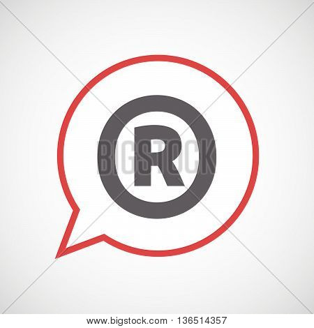 Isolated Comic Balloon Icon With    The Registered Trademark Symbol