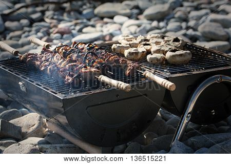 Delicious summer barbeque on a summers evening