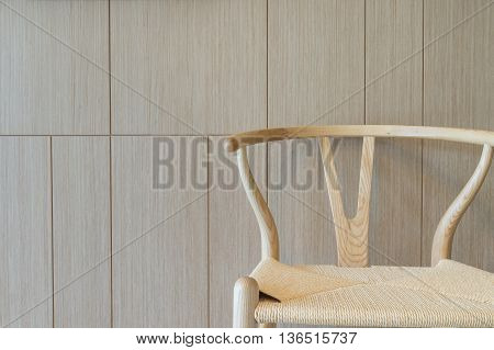 Teak Wood brown texture background with chair.