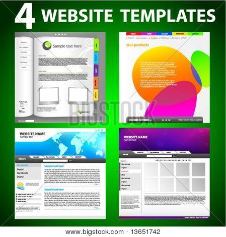 Four website templates. Third set.