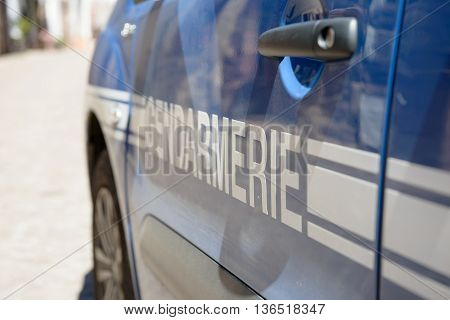 close up of the french police car