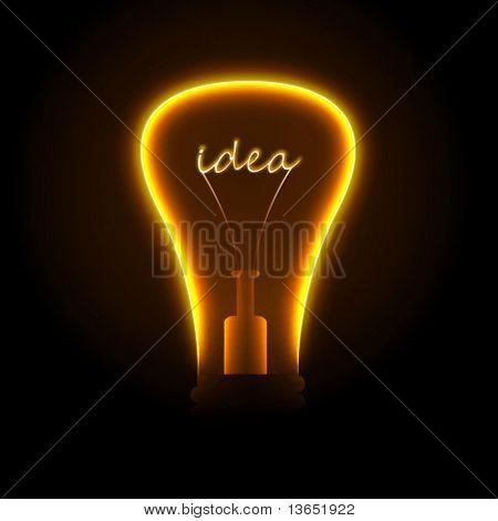 Bombilla de luz creativa. Vector.